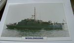 1981 Woolongong patrol warship framed picture (15)